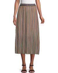 Lea & Viola - Plus Striped Midi Skirt - Lyst