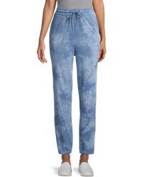 BB Dakota Women's Sky Walker Tie-dye Sweatpants - Blue - Size Xs