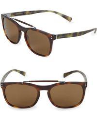 Burberry - Multi-tone Tortoiseshell 56mm Square Sunglasses - Lyst
