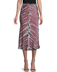Young Fabulous & Broke Tie-dye Pull-on Skirt - Multicolour
