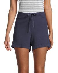 Hard Tail Textured Cotton Shorts - Blue
