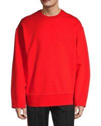 Yohji Yamamoto Stretch-cotton Sweatshirt - Red