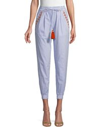 Hemant & Nandita Striped Cotton Pants - Blue