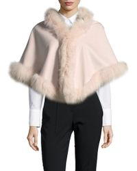 Belle Fare - Dyed Fox Fur Capelet - Lyst