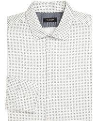 Saks Fifth Avenue - Printed Cotton Dress Shirt - Lyst