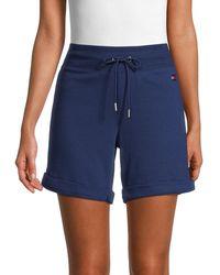 Tommy Hilfiger Drawstring Cotton-blend Shorts - Blue