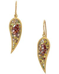Plevé - Diamond And 18k Yellow Gold Autumn Galaxy Drop Earrings, 1.5 Tcw - Lyst