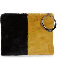 Sam Edelman Mavis Faux Fur Organizer Clutch - Multicolour