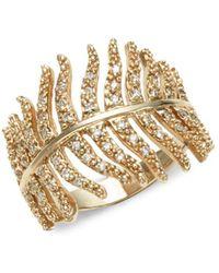 Mizuki - 14k Gold & Diamonds Feather Wrap - Lyst