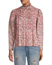 Robert Rodriguez Cayana Pleated Blouse - Red