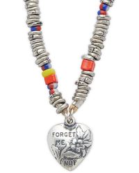 DANNIJO Fanny Forget Me Not Pendant Necklace - Multicolor