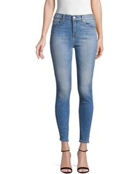 7 For All Mankind Gwenevere High-waist Ankle Skinny Jeans - Blue