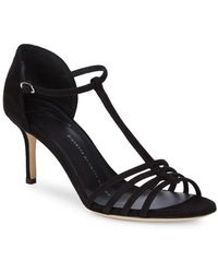 Giuseppe Zanotti - Leather Ankle-strap Open-toe Sandals - Lyst