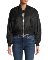 Maje Women's Reversible Bomber Jacket - Black - Size 38 (m)