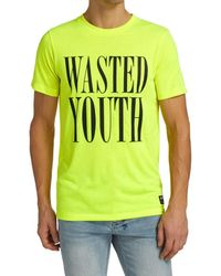 Wesc Men's Wasted Youth T-shirt - Safety Yellow - Size L