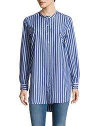 French Connection - Sophia Stripe Cotton Top - Lyst