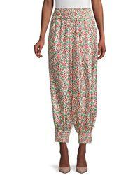 Tory Burch Women's Printed Pajama Pants - Legacy Paisley - Size 8 - Multicolor