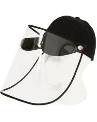 Bindya Face Shield Ball Cap - Black