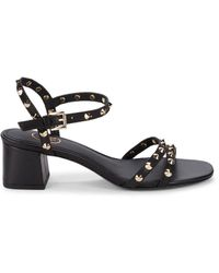 Ash Women's Rikki Studded Leather Sandals - Black - Size 35 (5)
