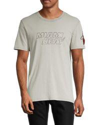 Zadig & Voltaire Men's Miami Heat Cotton Tee - Grey - Size M