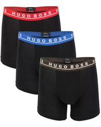 BOSS by HUGO BOSS 3-pack Stretch Cotton Boxer Briefs - Black