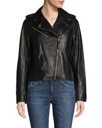 10 Crosby Derek Lam Leather Moto Jacket - Black