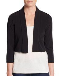 Calvin Klein Cropped Jersey Shrug - Black