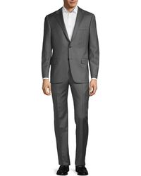 Hickey Freeman Classic Fit Milburn Iim Series Pinstripe Wool Suit - Gray