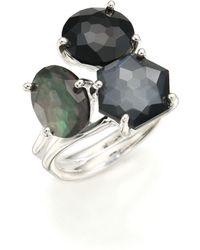 Ippolita - Rock Candy Black Tie Semi-precious Multi-stone & Sterling Silver Cluster Ring - Lyst