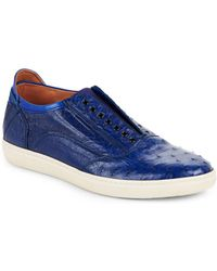 Mezlan - Gervasio Ostrich Leather Slip-on Shoes - Lyst