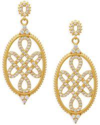 Freida Rothman - 14k Goldplated Sterling Silver Signet Love Knot Earrings - Lyst