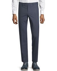 Saks Fifth Avenue Classic Wool Pants - Blue