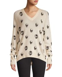 360cashmere - Skull-print Cashmere Sweater - Lyst