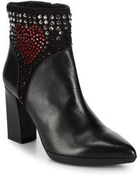 Love Moschino - Studded Point Toe Booties - Lyst