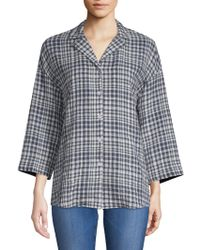 Lafayette 148 New York - Analeigh Checkered Blouse - Lyst