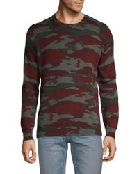 Pure Navy - Camouflage Cotton Sweater - Lyst