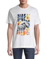 Robert Graham Men's Graphic Cotton Tee - White - Size Xl