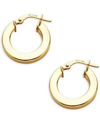 Saks Fifth Avenue 14k Gold Huggie Hoop Earrings - Metallic