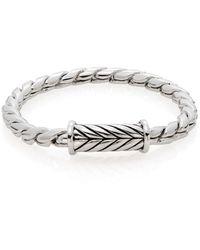 Saks Fifth Avenue Men's Herringbone Bracelet - Metallic