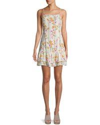 Lost + Wander Floral-print Mini Dress - White