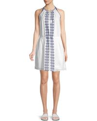 Beach Lunch Lounge - Embroidered Cotton Dress - Lyst