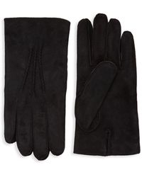 Saks Fifth Avenue Classic Suede Gloves - Black