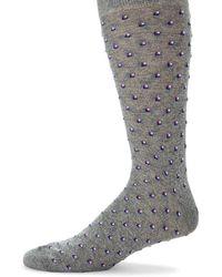 Saks Fifth Avenue Tiny Tiles Socks - Gray