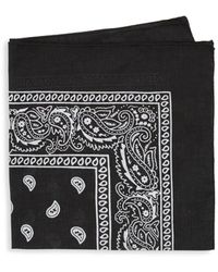 Saks Fifth Avenue Printed Paisley Banada - Black