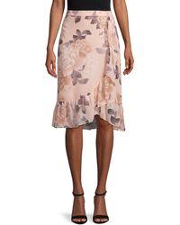 Calvin Klein Floral Flounce Skirt - Pink