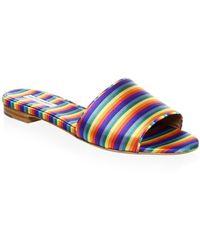 Tabitha Simmons Sprinkles Rainbow Slides - Multicolour