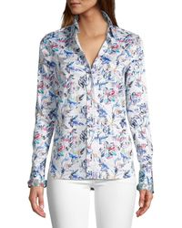 Robert Graham Women's Priscilla Floral Shirt - White - Size Xs