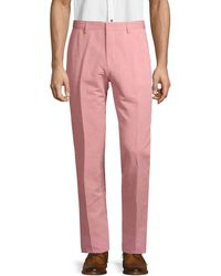 BOSS by Hugo Boss Classic Linen & Cotton Blend Pants - Red