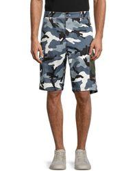 Valentino Men's Camo-print Cargo Shorts - Camo Grey - Size 50 (34)