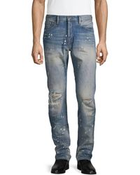 PRPS Distressed Slim Tapered-fit Jeans - Blue